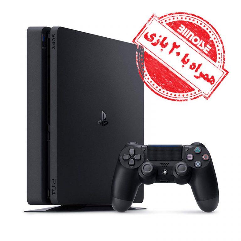 کنسول بازی همراه با 20 بازی روی هارد PlayStation 4 Slim 1tb R2 – CUH 2216B